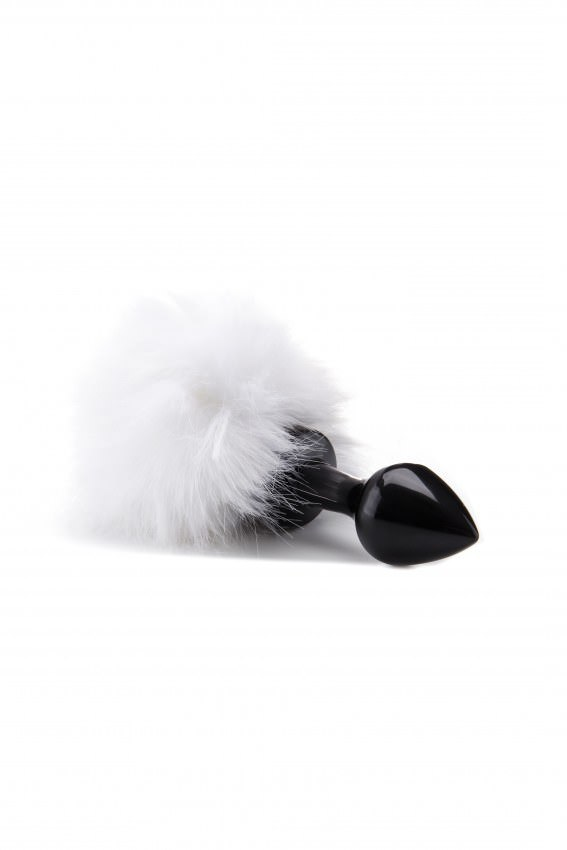 Image of   Ouch! Beginner Bunny Tail Stål Buttplug