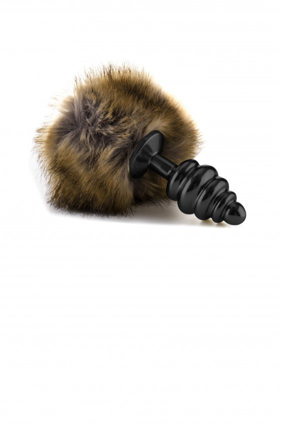 Image of   Ouch! Extra Feel Bunny Tail Stål Buttplug