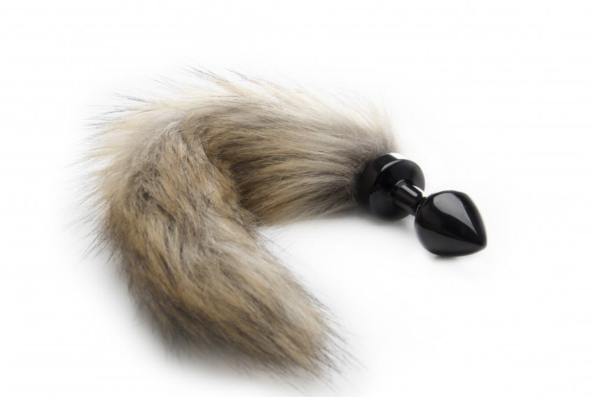 Image of   Ouch! Fox Tail Stål Buttplug