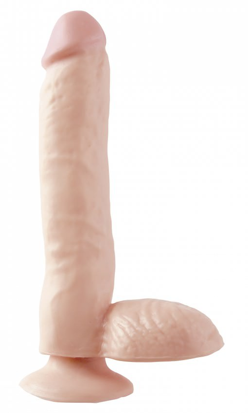 Image of   Pipedream Basix 9 Small Realistisk Sugekop Dildo