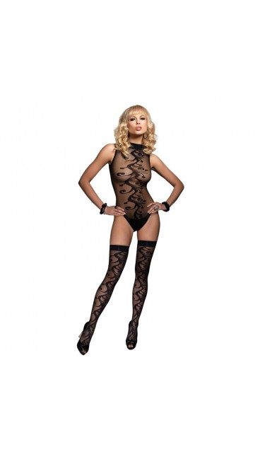 2 PC. Swirl Jacquard Teddy and Matching Stocking – Style: 8026